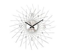 Wanduhr Uhr Modern Style Design Crystal Lines silber Quarz Kristalle NEUHEIT