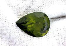 7.43 Carat 15x11 Pear Teardrop Olive Green Peridot Gem Stone Genstone LPF4