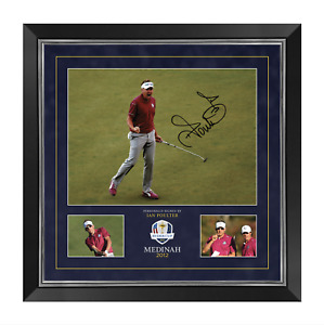 Ian Poulter Signed & Framed 16X12 Photo Ryder Cup Private SIGNING AFTAL COA (A)