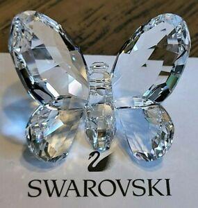 Swarovski Crystal 2009 Small Sparkling Clear Brilliant Butterfly Figurine, Logo