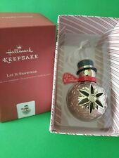 Hallmark Keepsake Signature Christmas Ornament 2017 Let It Snowman Bell Metal