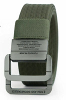 Military Style Tactical Belt for Men Heavy Duty Double Ring Buckle Thick Canvas