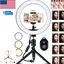 10''Led Ring Light Phone Holder Pro Portable Photo Selfie Makeup Tripod Stand US