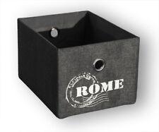 KMH® Schrankkorb Rome 20 x 26 cm Regalkorb Aufbewahrungskorb Korb Kiste grau