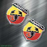 (2) TWO Abarth car Sticker Auto Race Drift JDM Decal Fiat Racing Euro Italian