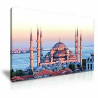 Blue Mosque Istanbul CANVAS WALL ART PICTURE 20X30 INCHES