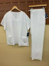 NEW Jockey White Solid Scrubs Set With 3XL Top & 3XL Pants NWT