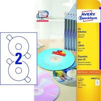 Avery Zweckform® L6043-25 L6043-25 CD-Etiketten, Ø 117 mm, 25 Blatt/50 Etiketten