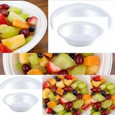 100 - WHITE FOAM BOWLS  8oz PARTY, CATERING, DISPOSABLE, POLYSTYRENE, DESSERT