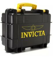 New Invicta 8 Eight Slot Blak/Yel Impact Resistant Dive Collector Watch Box Case