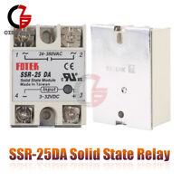1/2/5/10PCS SSR-25DA Solid State Relay Module 25A 250V DC 3-32V To AC 24-380V