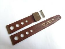 Vintage 19mm Swiss Made Rare Genuine Calf Leather/Suede Rally Men's Watch Strap