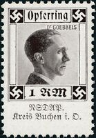 Stamp Germany Revenue WWII 3rd Reich Charity Kreis Buchen 3 MNH