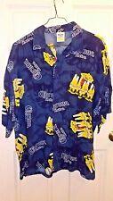Corona Extra Beer Men's Blue Hawaiian Shirt Size XXL Flowers Parrots Rayon 2006