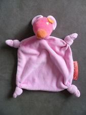 Doudou ORCHESTRA souris rose et fuschia fleur orange