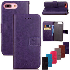 Genuine Leather Wallet Card Holder Flip Stand Case Cover For iPhone 8 / 8 Plus