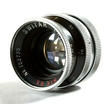 Paillard Bolex Switar 25mm f/1.4 H16-RX C-mount Lens For H16 Reflex Movie Camera