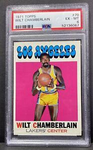 1971 Topps WILT CHAMBERLAIN #70 Basketball Card Graded PSA 6 EX-MT LAKERS HOF