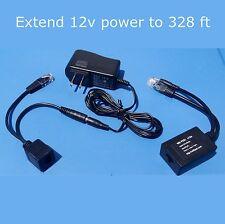 COMPLETE 12 Volt Power over Ethernet PoE Kit - Foscam,  IP Cameras, Trendnet 12v