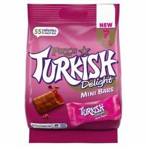 Fry's Turkish Delight Mini Bars Bags **NEW LINE** 1/2/4/6/10/15/20 105g Bulk Buy