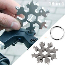 18 in 1 Multi-Tools Pocket Mini Outdoor Schneeflocke Werkzeugkarte+Schlüsselring