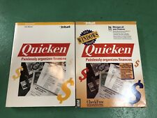 Intuit Quicken 1991 For Windows 3.5 Floppy Disks w/ Book Manual