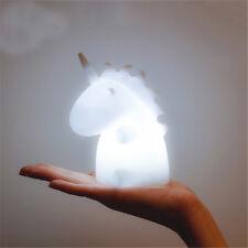 Unicorn LED Night Light Desk Lamp Baby Kids Bedroom Decor Christmas Gift Healthy