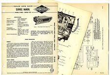 PHILCO  -  P-5803 MOPAR 925 AUTO RADIO  SERVICE MANUAL  ORIGINAL BOOK