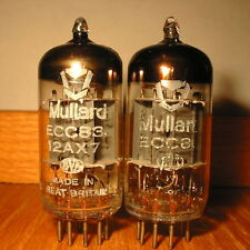 PAIR MULLARD ECC83 12AX7 THE EARLY 70s MARSHALL SOUND FULLY AVO TESTED 115%-134%