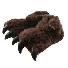 Monster Kralle Tier Hausschuhe Pantoffel Schlappen Kinder Dunkelbraun 36-41
