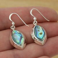 Abalone Shell 925 Sterling Silver Dangle Drop Earrings Gift Boxed