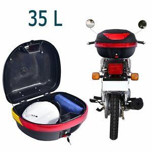 35L Matte Black Motorcycle TOPBOX Back Box Motorbike Helmet Luggage Rear Storage