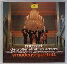MOZART: Great String Quartets, Amadeus DGG 5x LP Box 2720 055 NM