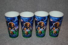 FOUR DETROIT LIONS NFL FOOTBALL SPORTS 3-D CUPS