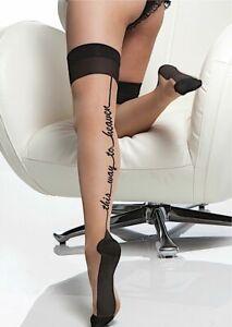Stockings  Colour : Black   Size : (UK 14 - 18 )