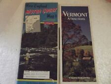 1969 New England Motor Court Map1-including New York & Quebec & Vermont Brochure