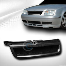 Fit 99-05 VW Jetta/Bora MK4 Glossy Black Aluminum Mesh Front Bumper Grill Grille