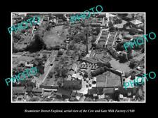 Old Large Historic Photo Of Beaminster Dorset England, The Milk Factory c1940