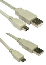 2m USB 2.0 Micro + cables de carga Cable de datos Beige Mini Tablet Android Samsung