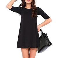 Vestito Donna Nero Casual Mini -  Woman Black Casual Mini Dress 110075