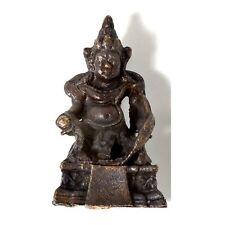 Mini Buddha Kubera - Höhe 3 cm - Ministatue aus Messing - Handarbeit aus Nepal