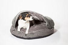 "Dog cave Bed *cosy Cave* grey medium (25"" 650mm) Uk Stock"