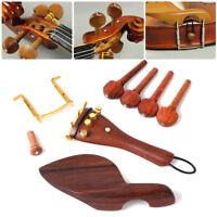 4/4-Geige,Hill Violine Zubehör Wirbel Saitenhalter Ebenholz Buchsbaum-Garnitur