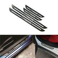 Mazda Carbon Fiber Car Door Scuff Sill Cover Panel Step Protector Set Of 4PCS