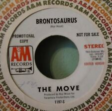 "The Move ""Brontosaurus"" 45 Dj Copy A&M Promotional Stereo Mono Edited Version Ex"