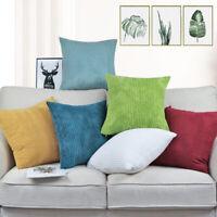 7 Sizes Jumbo Cord Corncob Corduroy Plush Cushion Cover Pillow Case Home Decor