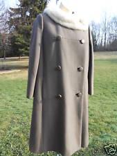 Vintage Raleighs Wool Coat Fur Collar 40-50s Rockabilly