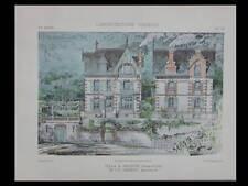 VILLA MEUDON - 1905 - PLANCHES ARCHITECTURE - HARANT