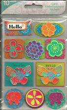 Colorbok Floral Layered Card Embellishment Stickers 10pc