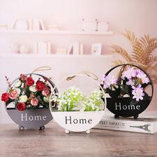 Iron Wall Hanging Flower Basket Round Vase Planter Wedding Home Decor Art DIY